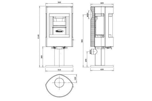 dovre-astro-3cb-p-met-voet-houtkachel-line_image